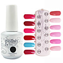 Sequins 1PCS Gel UV Cor Nail Polish No.13-24 Soak-off (15ml, cores sortidas)