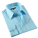 Men 's Mature Shirt Collar Business Men Work Blue Long Shirts