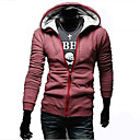 Men's Red Thin Scrub Hoodie Coat
