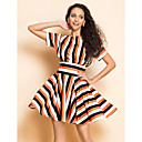 TS Stripes schlanke Taille Swing Dress