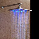 10 inch chroom messing vierkante LED regenval douche kop (zonder douche-arm) (0758-hm-D002-1)