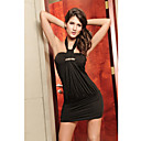 Black Halter Dress(Length:68cm Bust:86-102cm  Waist:58-79cm  Hip:90-104cm)