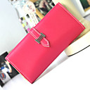 Women's Novelty Solid Color Scrub PU Wallet