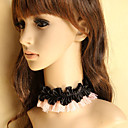 Handmade Pink and Black Lace Sweet Lolita Necklace