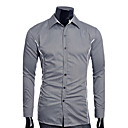 Mannen shirt Kraag Contrast Color Slim shirt