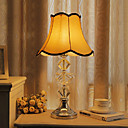 40W Nature Inspired Table Light with Crystal Lamp Pole and Fabric Shade