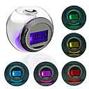 Rveil Rond  LED Colore, avec Calendrier, Thermomtre, Minuterie (3xAAA)