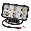 18W 1500lm 6000-6500K Natural White Light étanche Lampe Projecteur LED (10-30V)