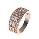 Elegant Copper Alloy CZ Crystal Rings