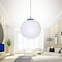 40W Chic Pendant Light with Globe Etched Glass Shades Down