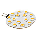 G4 2.5W 15x5050SMD 180-210LM 3000-3500K Warm White Light LED Spot Bulb (12V)