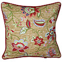 Traditional Floral Pattern Polyester Decorative Pillow Cover