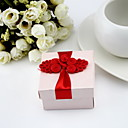 Square Favor Boxes With Flowers (Set Of 12)