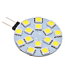 G4 2W 15x5050SMD 120-150LM 6000-6500K Natural White Light LED Spot Bulb (AC 12V)