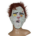 Braunes Haar, trockene Gesicht Gummi Halloween-Maske