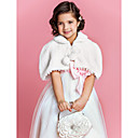 Flower Girl di Faux Fur sera / Wedding scialle con nappe