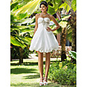 Ball Gown Sweetheart Short/Mini Taffeta Wedding Dress