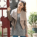 Long Sleeve Shawl PU Casual/Party Jacket(More Colors)