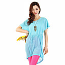 Summer New Blue long Coupe ample short de coton Robe chemise  manches T BIOPLAZM