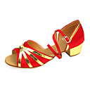 Stylish Kid's / Women's Satin Ankle Strap Latin / Ballroom Dance Shoes