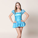 Cute Sweet Sky Blue Satin Fairy Costume (2 Pieces)