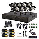 8 kanaals Home and Office CCTV DVR-systeem (P2P Online, 8 Outdoor Camera)