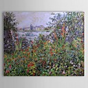 Famous Oil Painting Flowers at Vetheuil by Claude Monet