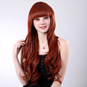 Capless Long Black Curly High Quality Synthetic Full Bang Wings