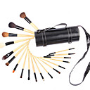 18Pcs Drums Wood Professional Makeup Brushes