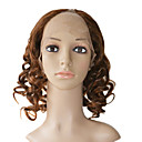 "Lace Front 100% Human Hair 16"" Curly Hair Wigs"