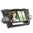 8 de polegada carro dvd player para Toyota Highlander (gps, ipod, bluetooth, rds)