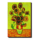 Sunflowers by Vincent Van Gogh Famous Stretched Canvas Print