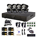 8-Kanal Home and Office DIY CCTV DVR-System (P2P Online, 4 D1 Recording)