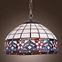 60W Tiffany Pendent Light mit 1 Licht in Floral Design Fringe