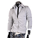 Men's Light Gray Simple Coat
