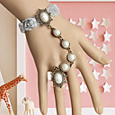 Handmade Gray Lace Flowers  Princess Lolita Ring Bracelet