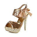 Fashion Sequin Stiletto Heel Peep Toe Sandals  With Bowknot Party / Evening Shoes(More Colors)