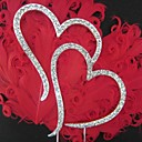 """Double Hearts""Rhinestone Monogram Wedding Cake Topper"
