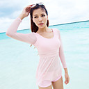 Pink Long Sleeve Tankini