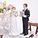 """I'm With Her/Him"" Bride & Groom Wedding Cake Topper"