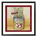 Framed Art Print Floral Cherries by Lisa Audit