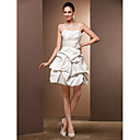 Ball Gown Sweetheart Satin Short/Mini Wedding Dress