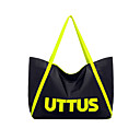 Fashion Stylish Contrast Color Letters Pattern Tote