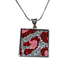Charming And Cute 925 Sterling Silver Pendant With the red silk (Qty:12) free shipping (FMR-031)
