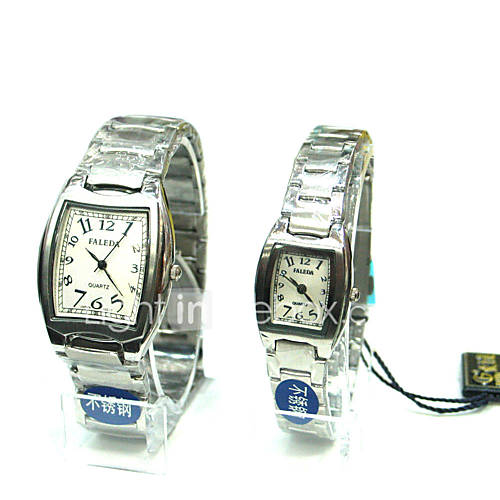 Squared Case Couple Watch